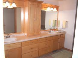 bathroom nice cabinet for furniture idea cuts wooden bathroom cabinet natural with lights for furniture idea