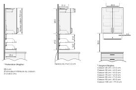 hauteur standard meuble cuisine taille standard meuble cuisine fabulous table cuisine dimension