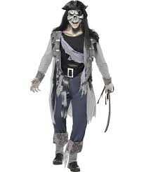 Skeleton Costume For Halloween Pirate Costume Men Main Adults Costumes Ghost Pirate Costume
