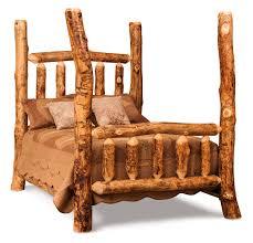 Wooden Log Beds Bedroom Dutchman Log Furniture