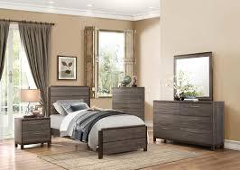 Black Furniture Bedroom Set Homelegance Vestavia Panel Bedroom Set Grey Dark Brown B1936 1