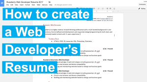 Resume Sample With Linkedin Url by How To Create A Web Developer U0027s Resume Youtube