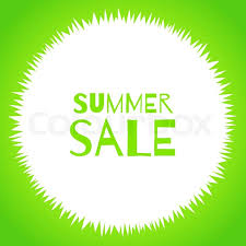 Offer For Shops by Vector Round Grass Frame Isolated On White Background Summer Sale