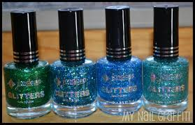 my nail graffiti jordana glitters specialty nail polish swatches