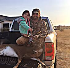 Becks Christmas Tree Farm Hartwell by Man And Daughter Pose With Big Deer Jpg