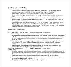 financial analyst resume sle financial analyst resume 11 documents in pdf word