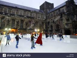outdoor ice rink in winchester stock photo royalty free image