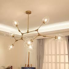 Design Chandeliers Loft Industrial Chandeliers Globe Glass Lights Modern Minimalist