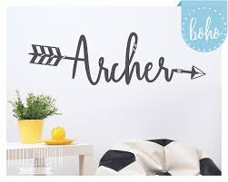 rodeo kids decor custom arrow name wall decal