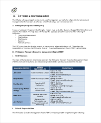 Disaster Plan Template 11 disaster recovery plan templates free sle exle format