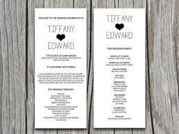 wedding party program template wedding ceremony program templates europe tripsleep co