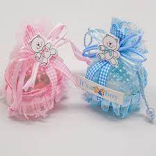 baby shower ribbon baby shower party favor yarn basket candy box with ribbons