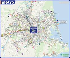 Metro Bus Routes Map by Network Maps Christchurch Transport Blog