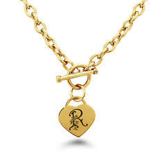 initial necklace r heart ebay