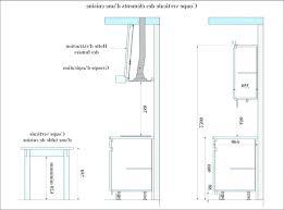 profondeur meuble cuisine taille standard meuble cuisine atourdissant hauteur plan de