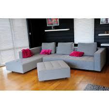 canapé zanotta canapé design kilt avec méridienne gris chiné de zanotta