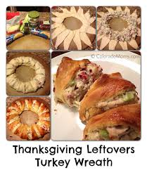 thanksgiving leftovers make a turkey wreath coloradomoms