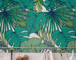 removable wallpaper uk removable selfadhesive jungle wallcovering by jumanjii on etsy