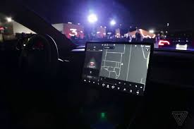 bmw dashboard at night a closer look at tesla model 3 u0027s spartan interior the verge