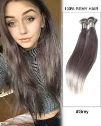 grey hair extensions grey weave weft remy human hair extensions