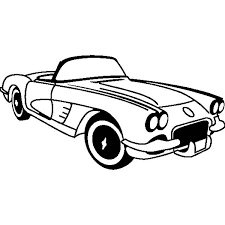 chevrolet cars corvette 1953 colouring page colouring tube