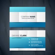Bisness Card Design Clean Modern Business Card Design Vector Free Download