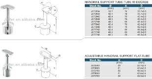 Tubular Handrail Standards Stainless Steel Handrail Support Handrail Bracket Tube Mounting
