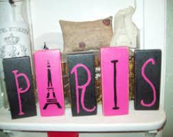 Purple Paris Themed Bedroom by Teal And Black Paris Letter Blockseiffel Towerparis