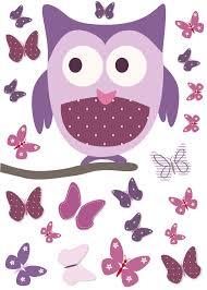 Sticker Chambre Bebe Fille by Sticker Chouette Sur Son Arbre Et Papillons Rose Et Mauve Pour