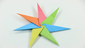 how to make a paper spinning star origami spinning star for kids
