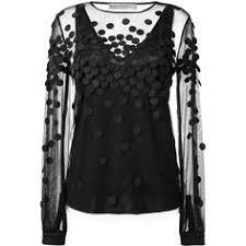 Black Blouses For Work Sheer Feminine Blouses White Blouse With Black Collar Black