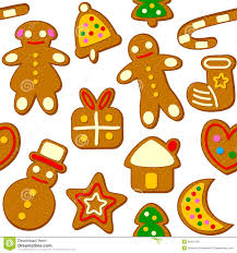 christmas cookies seamless pattern stock vector image 35415181
