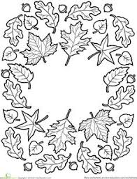 autumn coloring pages fall tree coloring worksheet song