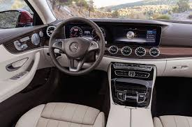 2018 mercedes benz e class coupe dashboard photos first