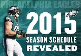 eagles release 2015 season schedule
