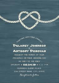 wedding invitations knot tie the knot wedding invitations modern or nautical
