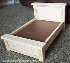 how to make american girl doll bed diy farmhouse doll bed for american girl dolls adventures of a