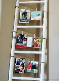 project home a ladder christmas card display a night owl blog
