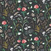dark floral fabric wallpaper u0026 gift wrap spoonflower