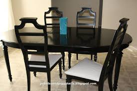 Black And Wood Dining Table Black Dining Table Re Do Hometalk