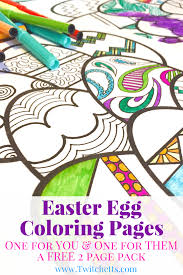 easter egg coloring pages easter printables twitchetts