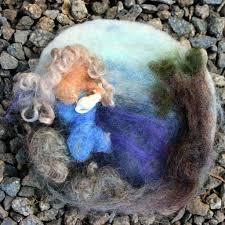 gisela u0027s needle felted painting mermaid rotunda needle felted