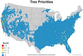 China Usa Map by Mapping The Usa U0027s Tree Diversity