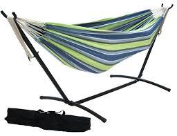 prime garden 9 u0027 double hammock space saving steel hammock stand