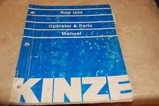 Kinze Planter Parts by Antique U0026 Vintage Heavy Equipment Manuals For Planter Ebay