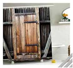 Western Style Shower Curtains Unique Rustic Western Style Shower Curtain Looks Like A Wooden
