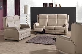 canap cuir relax 3 places mailleux canapé beige 3 places relax photo 10 20 salon en cuir