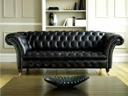 canapé chesterfield cuir noir canapés en cuir noir déco