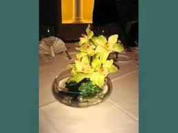 Orchid Centerpieces Green Cymbidium Orchid Centerpieces Set Of Pictures Youtube