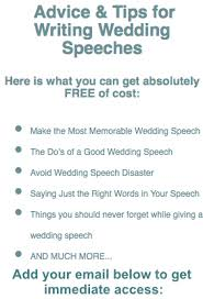 wedding speeches of the speeches